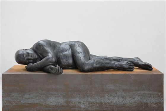 anvidalfarei, lois anvidalfarei, sculpture, bronze, contemporary art, alessandro casciaro, art gallery